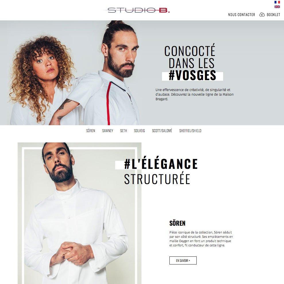 Une réalisation Boost communication : site internet Studio Bragard